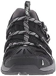 Ahnu Women\'s Tilden V Sport Sandal, Leaf Black, 8 M US