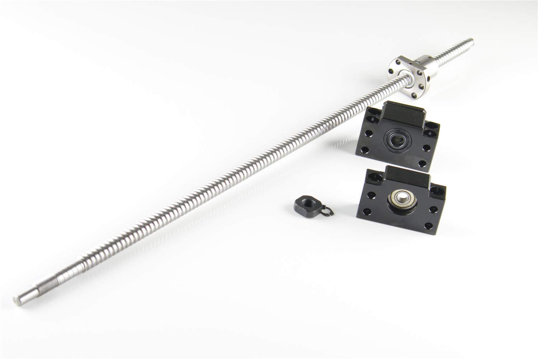 1 Set BK10//BF10 End Supports Bearing Mounts for CNC 3D Printer US Shipping CHUANGNENG 1Pcs SFU1204-600mm Ballscrew End Machine
