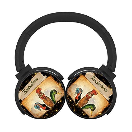 Yi6Xu Turducken Wireless Bluetooth Headphones Over Ear Stereo Fold Earphone Black