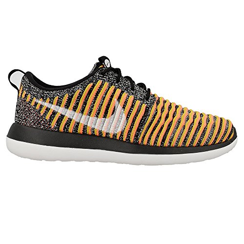 Nike Running Roshe Women's Bright White Black Shoes 005 Flyknit Two W Mango 441xXr
