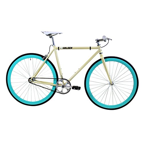 Golden Cycles Fixed Gear Bike Steel Frame with Deep V Rims-Collection, Abigail, 48