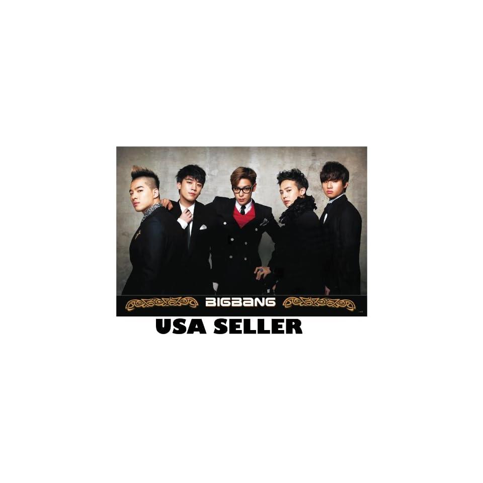Big Bang horiz POSTER black outfits semi formal 34 x 23.5 T.O.P. Top G Dragon Bigbang Korean boy band (sent FROM USA in PVC pipe)