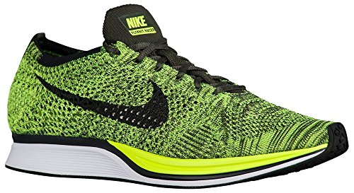 Nike Flyknit Racer Zapatillas de deporte, Unisex adultos negro y amarillo neón
