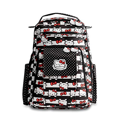 (Ju-Ju-Be Be Right Back Backpack Diaper Bag, Hello Kitty Dots and Stripes)
