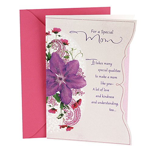 Hallmark Birthday Greeting Card for Mom (Purple Flower) (Happy Birthday Greetings To Mother In Law)