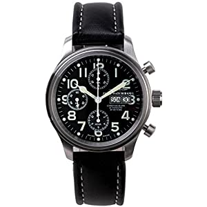 Zeno-Watch Mens Watch - New Classic Pilot Chronograph Day-Date - 9557TVDD-a1