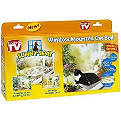 Zehui Pet Cat Sucker Hammock Sunny Seat Window Cat Bed