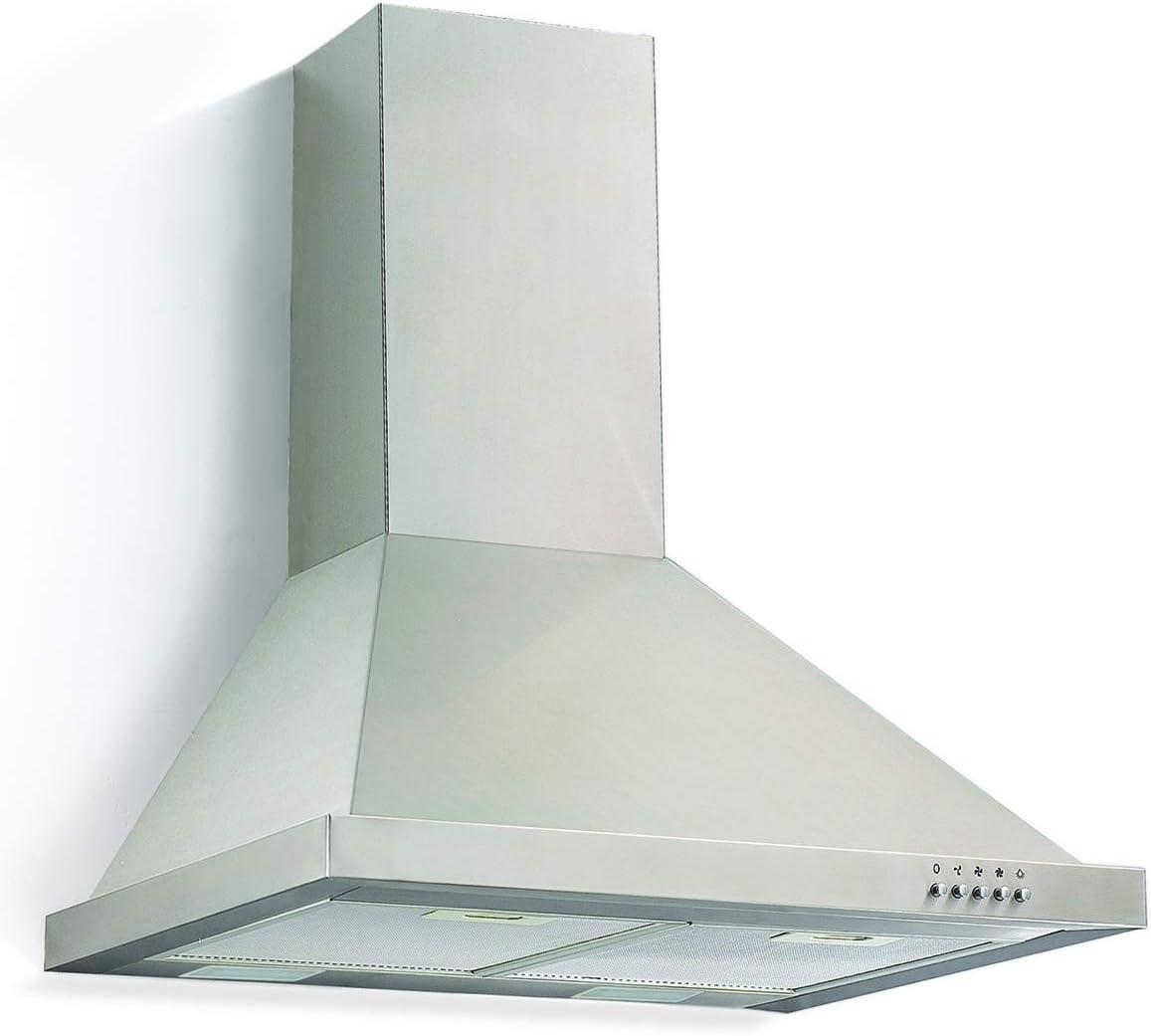 3 niveles de potencia Orbegozo DS 48170 B IN extracci/ón 632,3 m3//h Campana extractora decorativa 70 cm iluminaci/ón LED acero inoxidable