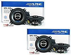 "4 X Alpine Type-s Sps-410 4"" 2-way Car Audio Speakers"