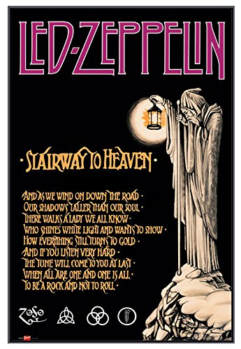 Amazoncom Led Zeppelin Stairway To Heaven Framed Poster Quality