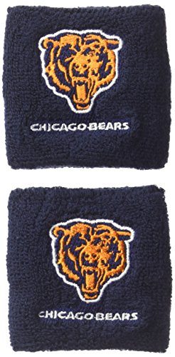 (Pro Specialties Group NFL Chicago Bears Wristbands, Navy, One Size)