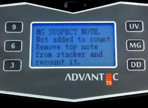 Cassida Corporation Canadian Bill Counter Advantec75CAD Canadian Note Counter Polymer Bill Counter