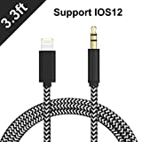 CHIULOIAN Aux Cord for iPhone,3.5mm Aux Cable for iPhone 7/X/8/8 Plus/XS Max/XR to Car Stereo or Speaker or Headphone Adapter, Support The Newest iOS 11.4/12 Version or Above (PACK9)