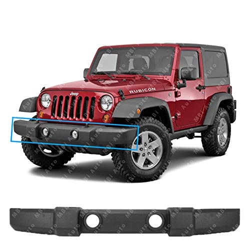 MBI AUTO - Textured Plastic, Front Bumper Cover Fascia for 2007-2017 Jeep Wrangler, CH1000900 (Cover Replacement Bumper Front)