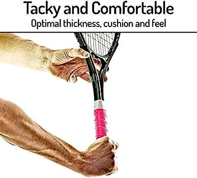 B Blesiya Rollo de Cinta de Raqueta de Tenis Absorbente de Sudor Sobregrip Adhesiva para B/ádminton