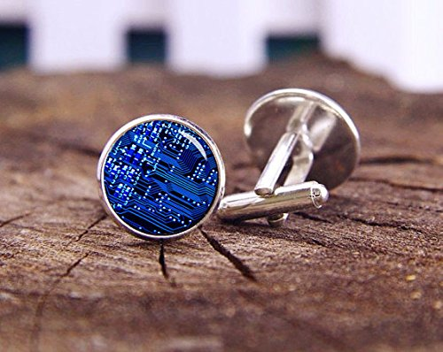 Circuit Board Cufflinks, Pcb Cuff Links, Computer Circuit Board, Custom Wedding Cufflinks, Unique Cufflink, Wedding Gifts For Men, Best Man