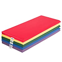 Costzon 2-Inch Thick Daycare Rest Mats, 5-Pack, Foam Napping Floor Mats with Name Tag Holders for Kids, Phthalate-Free Portable Preschool Toddler Sleeping Mat for School Travel Home