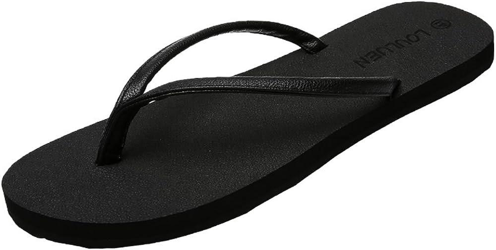Hilotu Unisex Slippers Soft Comfortable Rubber Flip Flops Thong Sandal Beach Slipper