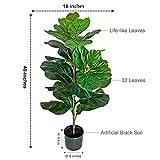 BESAMENATURE 40 Inch Artificial Fiddle Leaf Fig