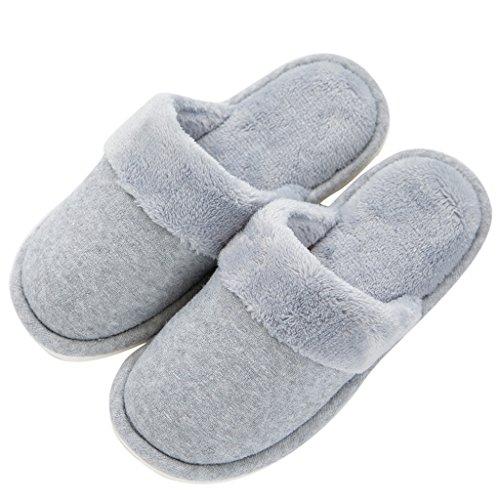 Hausschuhe Baumwolle Hause Korallen Männlich Warme Rutschfeste Feuchtigkeit absorbierende Warme Schuhe Grau