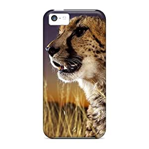 Unique Design Iphone 5c Durable Tpu Cases Covers Cheetahthe Elusive Cat