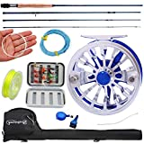 Sougayilang Fly Fishing Rod Reel Combos with Lightweight Portable Fly Rod and Fly Reel,Fly Fishing Complete Starter Package(Blue) For Sale