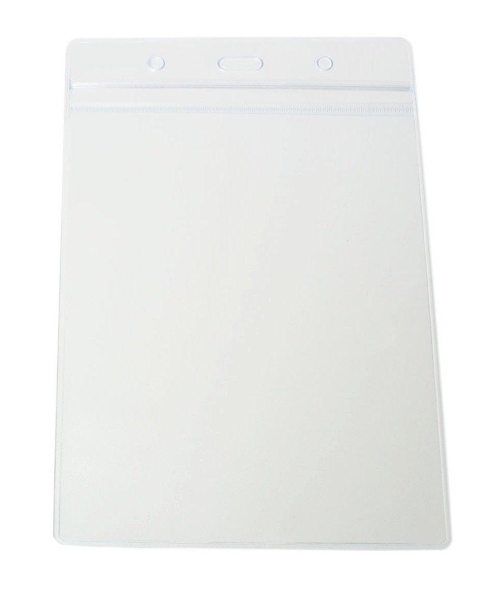 grande tasca in PVC trasparente copertura maniche t /contiene 14.8/x 10.5/cm Confezione di 50/vinile A6/plastica ID card badge targhetta nome supporti di cordini Tomorrow ritratto Dimensioni 17.5/x 11.8/cm/