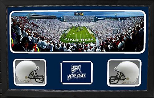 Encore Select 657-40 NCAA Penn State Nittany Lions Custom Framed Sports Memorabilia with Two Mini Helmets Photograph and Name Plate by Encore