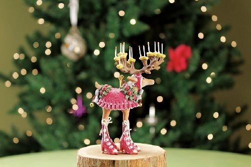 - Patience Brewster Mini Dashaway Donna Reindeer Ornament Christmas Holiday Tree Decoration
