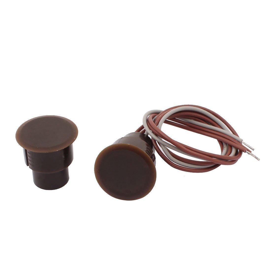 sourcingmap® 1 Conjunto RC-36 NC+NO Interruptor de láminas ventana rebajada contacto puerta alarma magnéticos marrón a16111800ux0852