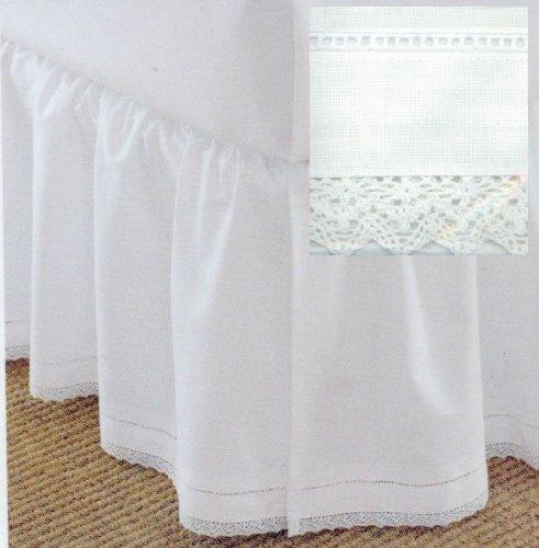 Cotton Crochet King Dustruffle White