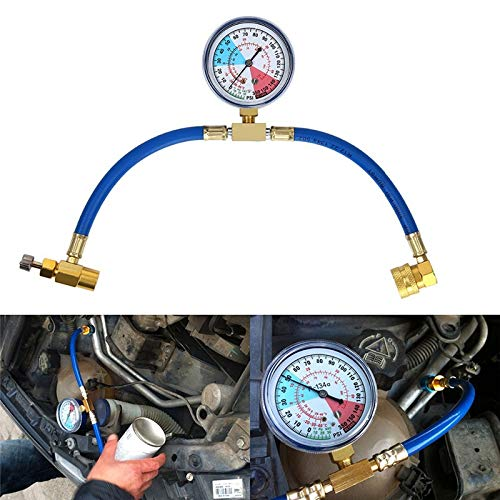 MASO Car Conditioning Refrigerant Recharge Measuring Hose Kit R134A A/C Charging Adapter with Gauge