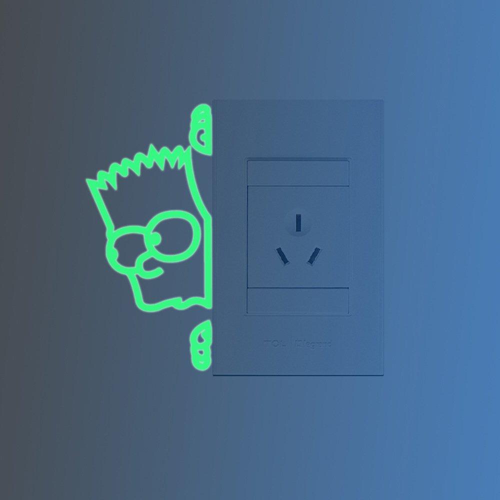 Simpson Pegatinas de Pared Fluorescencia Brillan en la Oscuridad https://amzn.to/2UhiyQw