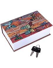 Diversion Book Safe, Dictionary Secret Cash Safe Box Bible Safe Storage Box with Security Key Diversion Book Hidden Safe