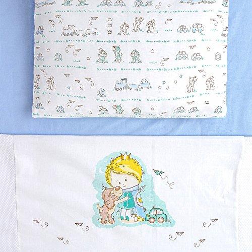 Jogo De Berço Baby 03 Peças, Papi Textil, Azul