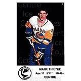 Mark Thietke Hockey Card 1983-84 Saskatoon Blades #24 Mark Thietke