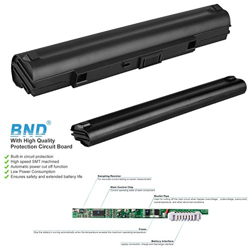 BND 5200mAh Battery [with Samsung Cells] for Asus UL80JT UL30A UL30V U30JC UL50 UL50V UL80 UL80V UL80VL UL80J, fits P/N A42-UL50 A42-UL30 - 24 Months Warranty [8-Cell, Li-ion] by BND (Image #3)