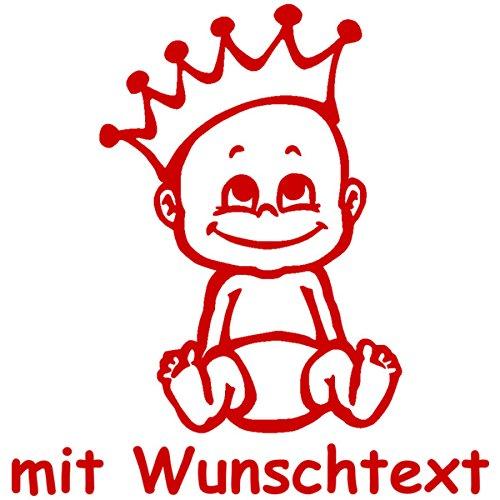 16 cm Babyaufkleber mit Name//Wunschtext Motiv 35 - 20 Farben und 11 Schriftarten w/ählbar