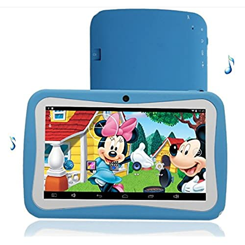 7 inch Tablet PC for Kids Student 1G RAM 8G ROM Dual Camera Android 4.4 Mp4 Mp5 Games Blue Color Coupons