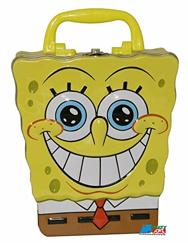 The Tin Box Company 248207-12 Sponge Bob Shaped Large Carry All Tin]()