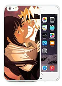 High Quality iPhone 6 Plus 5.5 Inch TPU Case ,Cool And Fantastic Designed Case With Naruto Uzumaki Naruto Hyuuga Hinata Girl Boy Kiss White iPhone 6 Plus Cover