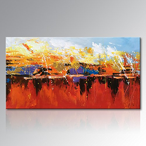 Seekland Art Abstract Canvas Wall Art Modern Large Hand Painted Contemporary Oil Painting Wall Decor Landscape Artwork Picture No Frame (80''W x 40''H) by Seekland Art