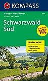 Schwarzwald Süd: Wanderkarten-Set mit Naturführer in der Schutzhülle. GPS-genau. 1:50000 (KOMPASS-Wanderkarten, Band 887)