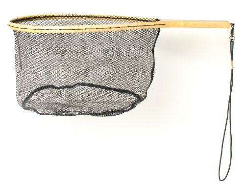 - Eagle Claw Wood Trout Net with Rubberized Netting