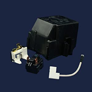 Whirlpool 12002782 Refrigerator Compressor Overload and Start Relay Genuine Original Equipment Manufacturer (OEM) Part