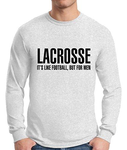 Awkward Styles Men's Lacrosse It`s Like Football But for Men Long Sleeve T Shirt Tops Sport White 2XL ()