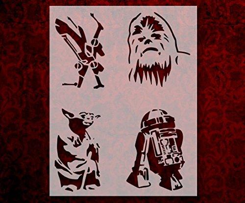 Star Wars Good Guys Yoda R2D2 Chewbacca X-Wing 8.5