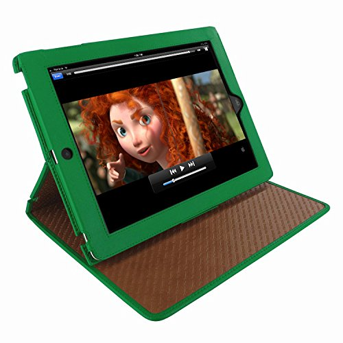 (Piel Frama 532 Green Cinema Magnetic Leather Case for Apple iPad 2/3 / 4)