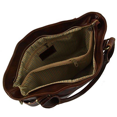 Tuscany Leather Ilenia Borsa A Spalla Rosso Marrone