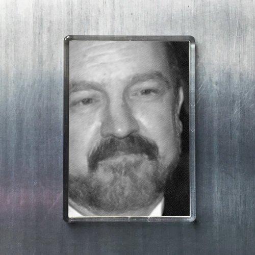 Seasons JIM BEAVER - Original Art Fridge Magnet #js003
